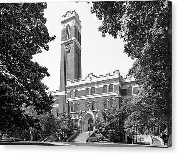 Vanderbilt University Kirkland Hall Canvas Print by University Icons