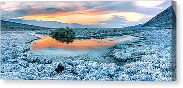 Salt Flats Canvas Print - Vanilla Sunset by Az Jackson