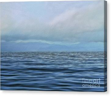 Vanishing Blue Canvas Print