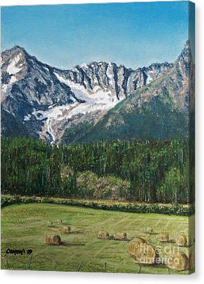 Canvas Print featuring the painting Vanishing Glacier by Stanza Widen