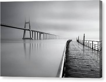 Canvas Print featuring the photograph Vanishing by Jorge Maia