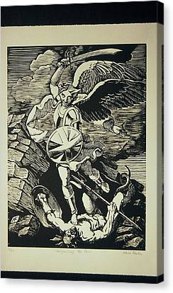 Vanquishing The Devil Canvas Print