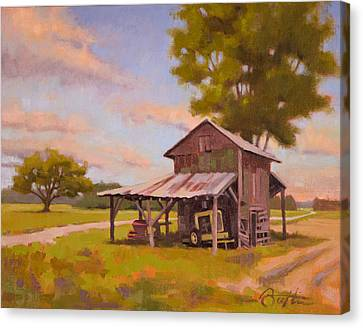 Vanishing Tobacco Barn Canvas Print by Todd Baxter