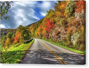 Smokey Mountains Canvas Print - Vantage Point Blue Ridge Parkway Art by Reid Callaway