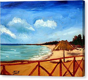 Varadero Beach  Canvas Print by Maria Soto Robbins