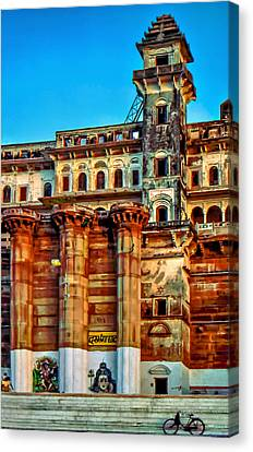 Moksha Canvas Print - Varanasi by Steve Harrington