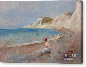 Varengeville Beach Canvas Print by Pierre Auguste Renoir