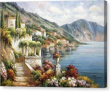 Varenna, Lago Di Como Canvas Print by Lucio Campana