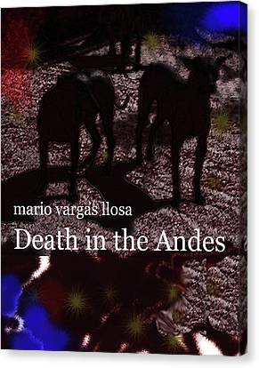 Vargas Llosa Poster Death In Andes Canvas Print