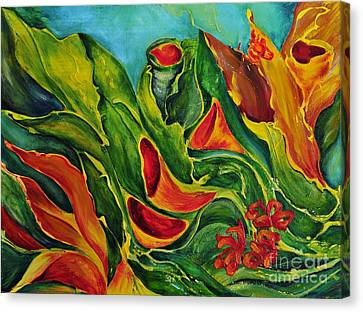 Canvas Print featuring the painting Variation by Teresa Wegrzyn