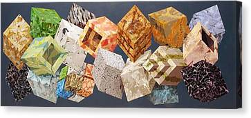 Variations In Stone Canvas Print by M Jaquis