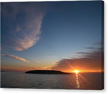 Canvas Print featuring the photograph Variations Of Sunsets At Gulf Of Bothnia 2 by Jouko Lehto