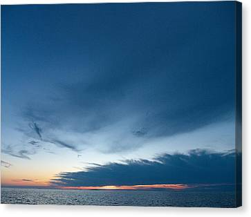 Canvas Print featuring the photograph Variations Of Sunsets At Gulf Of Bothnia 4 by Jouko Lehto