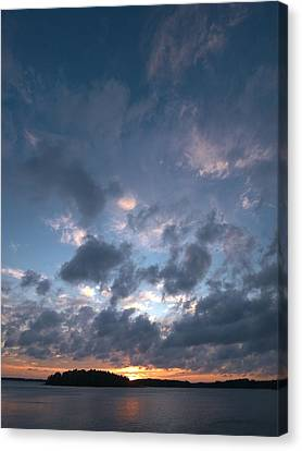 Canvas Print featuring the photograph Variations Of Sunsets At Gulf Of Bothnia 5 by Jouko Lehto