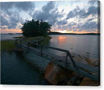 Canvas Print featuring the photograph Variations Of Sunsets At Gulf Of Bothnia 6 by Jouko Lehto