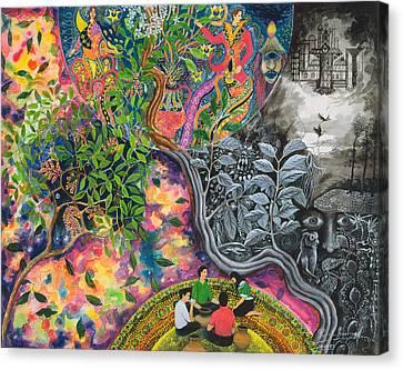 Ayahuasca Visions Canvas Print - Variopinto De La Chacruna by Pablo Amaringo