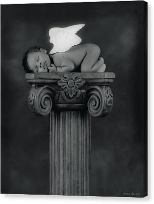 Varjanare As An Angel Canvas Print by Anne Geddes