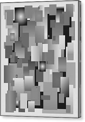 Canvas Print featuring the digital art Vas 8 Black And White by John Norman Stewart