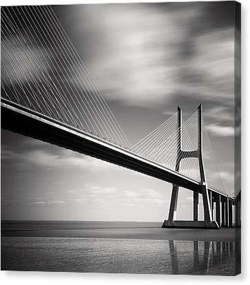 Vasco Da Gama Bridge II Canvas Print by Nina Papiorek
