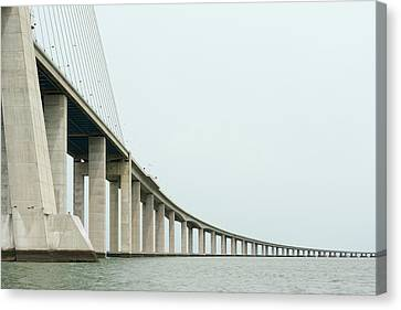 Vasco Da Gama Bridge Canvas Print