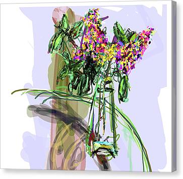 Vase Placed Well By Beth Canvas Print by James Thomas