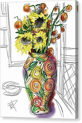 Screen Doors Canvas Print - Vase by Russell Pierce