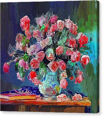 Vase With Nice Flowers Canvas Print