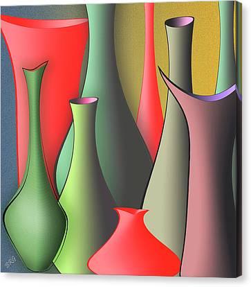 Vases Still Life Canvas Print by Ben and Raisa Gertsberg
