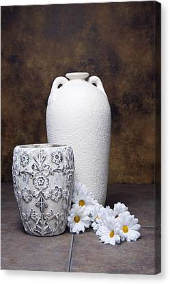 Vases With Daisies I Canvas Print by Tom Mc Nemar