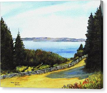 Canvas Print featuring the painting Vashon Island by Marti Green