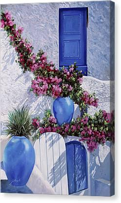 Vasi Blu Canvas Print