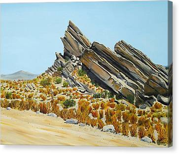 Vasquez Rocks Looking South Canvas Print by Stephen Ponting