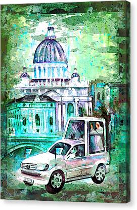Vatican Authentic Madness Canvas Print by Miki De Goodaboom