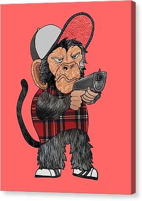Vato Monkey Canvas Print by Daniel Adams