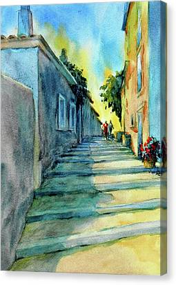 City-scapes Canvas Print - Vaugines Steps No 2					 by Virgil Carter