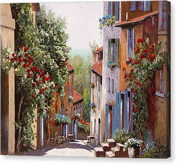 vecchia Cagnes Canvas Print by Guido Borelli