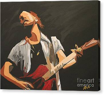 Pearl Jam Canvas Print - Vedder by Steven Dopka
