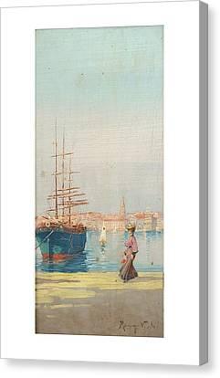 Veduta Di Porto Canvas Print