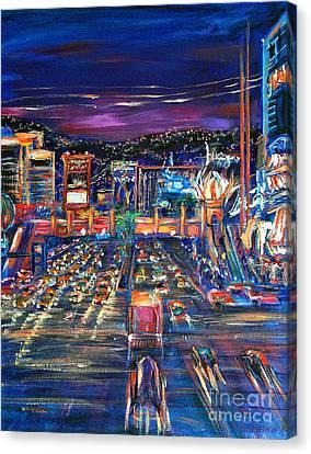 Vegas Lights Canvas Print