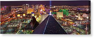 Vegas Lights Canvas Print by Mikes Nature