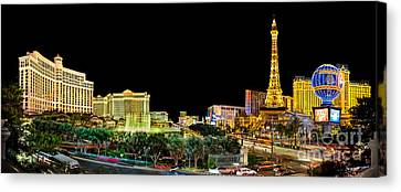 Long Street Canvas Print - Vegas Splendor  by Az Jackson