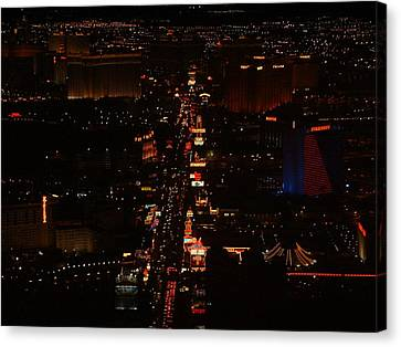Vegas Strip Canvas Print by D R TeesT
