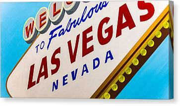 Vegas Tribute Canvas Print by Slade Roberts