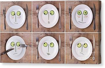 Vegetable Faces Canvas Print