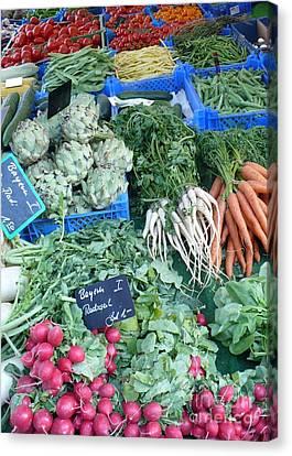 Vegetables At German Market Canvas Print by Carol Groenen