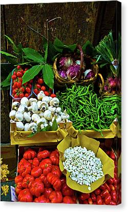 Canvas Print featuring the photograph Vegetables In Florence by Harry Spitz