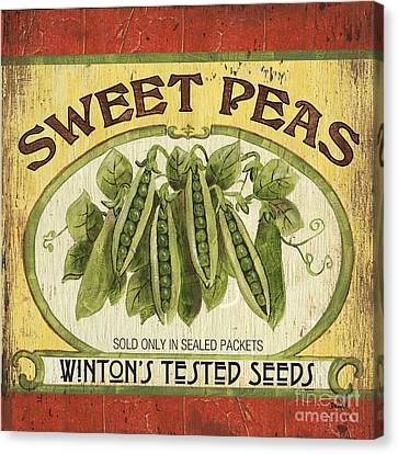 Veggie Seed Pack 1 Canvas Print by Debbie DeWitt