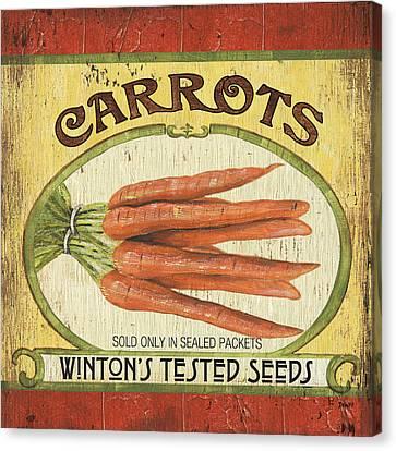 Veggie Seed Pack 4 Canvas Print by Debbie DeWitt