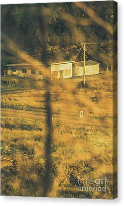 Vegitation View Of Rural Farm Homestead  Canvas Print