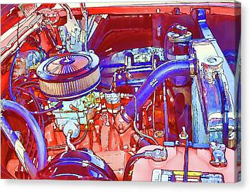 Component Canvas Print - Vehicle Engine Close Up by Lanjee Chee